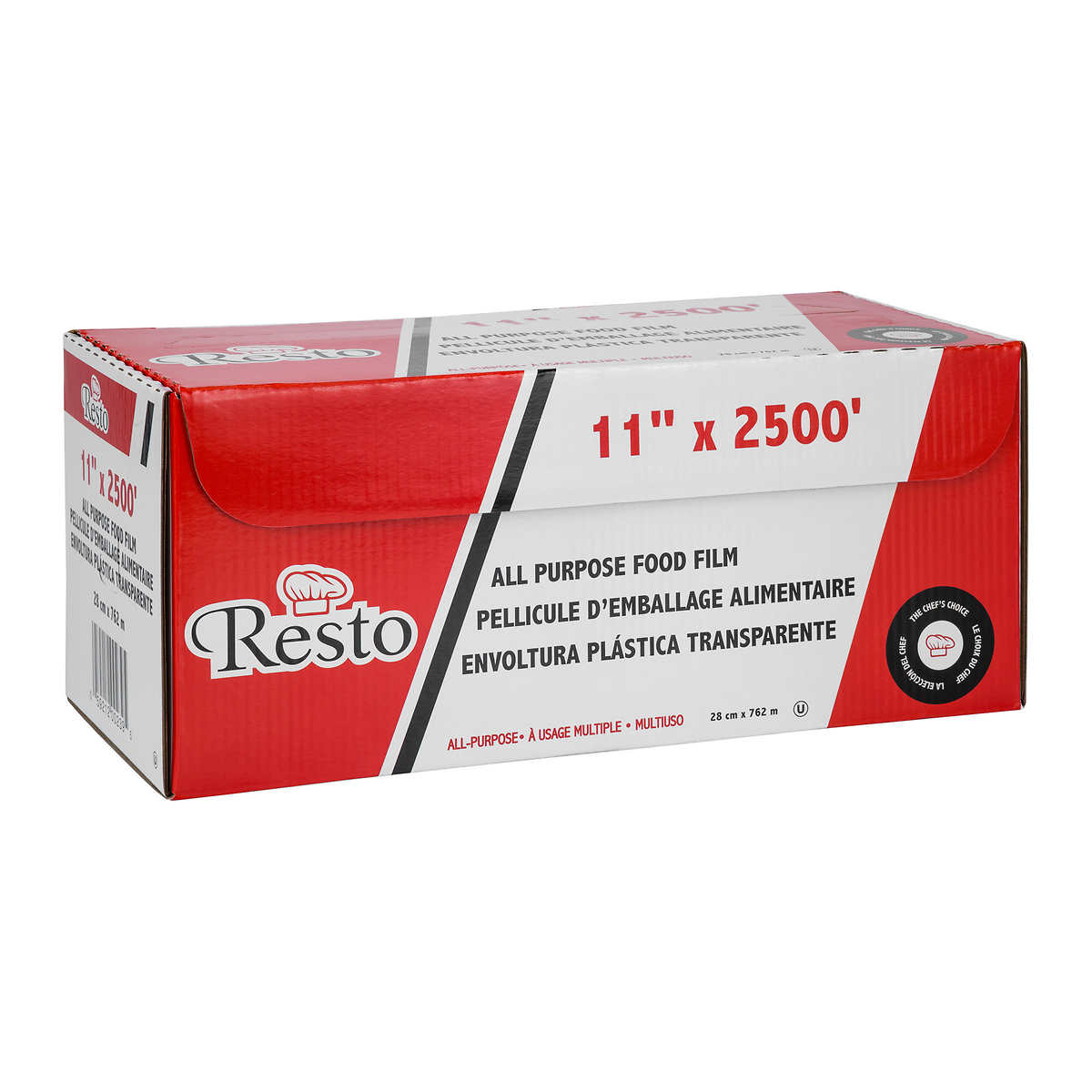 Resinite 27 9 cm x 762 m (11 in  x 2,500 ft ) All Purpose Commercial  Plastic Food Wrap