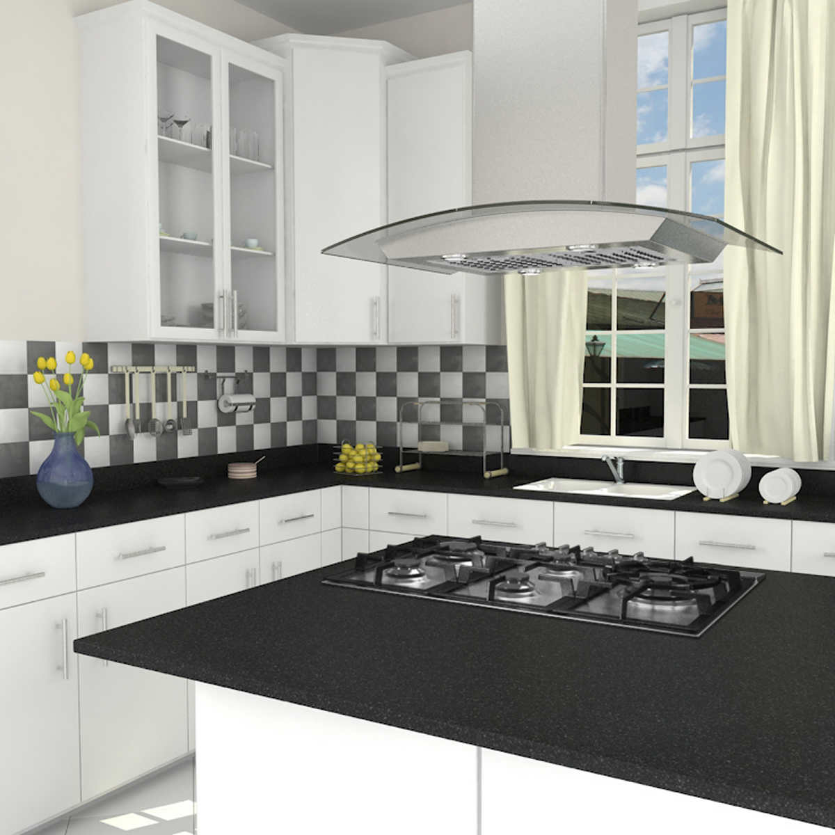 Kitchen island hood - Click To Zoom