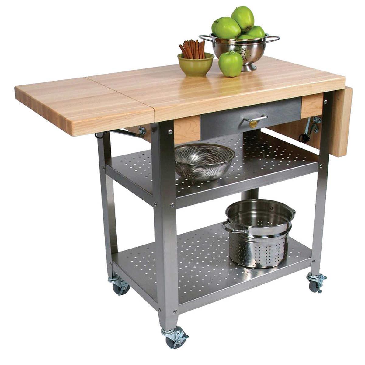 john boos butcher block maple trolley. Interior Design Ideas. Home Design Ideas