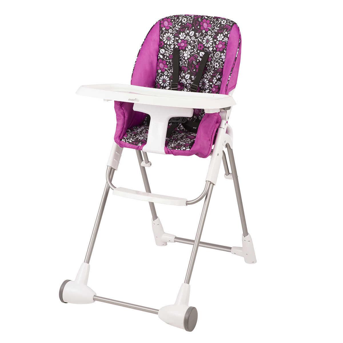 Cosco flat fold high chair - Evenflo Symmetry High Chair Daphne