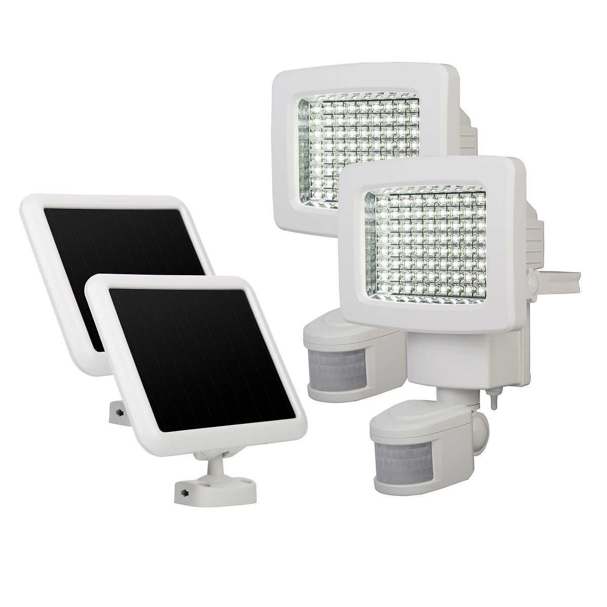 Solar patio lights costco - Sunforce Solar Motion Light 2 Pack