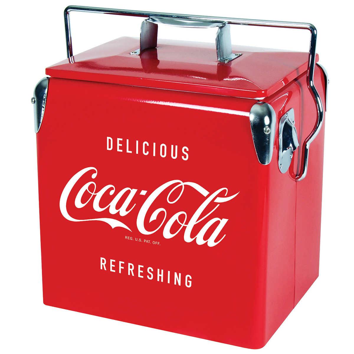 Koolatron Coca-Cola® 13 L (13 7 qt ) Vintage Ice Chest Cooler