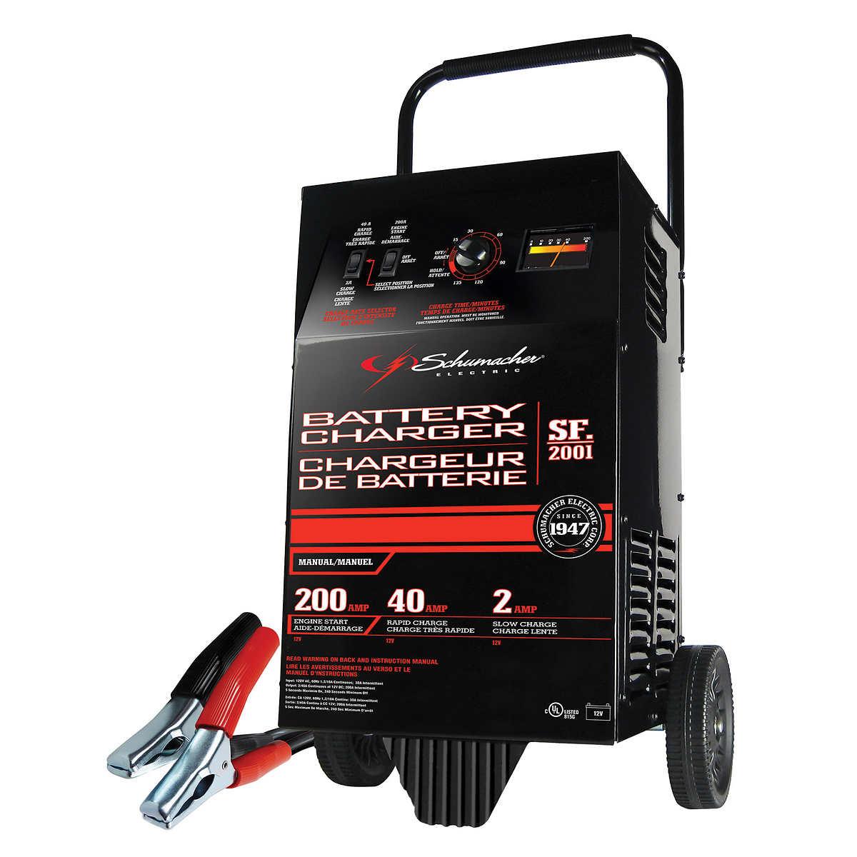 Schumacher sf 2001 200 40 2 a manual starter charger