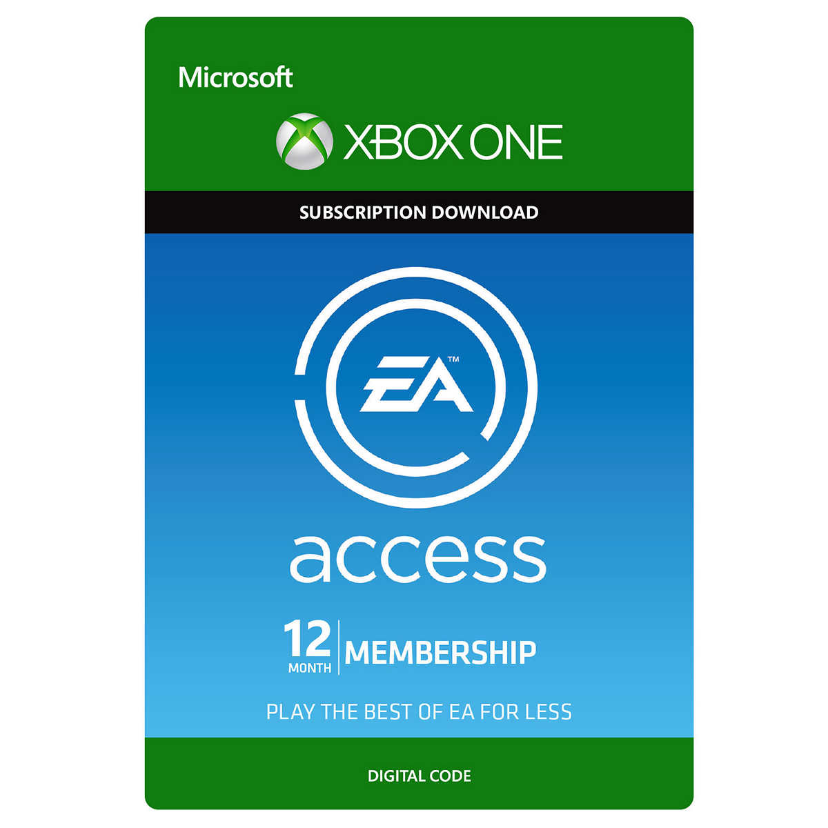 Xbox One EA Access 12 Month Subscription - Digital Download Code