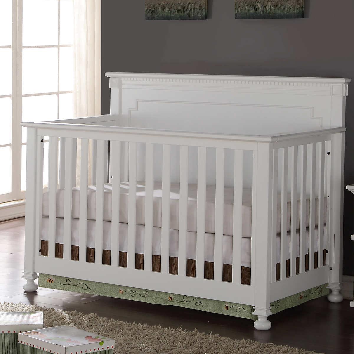Baby crib for sale ottawa - Belgian 3 In 1 White Finish Crib