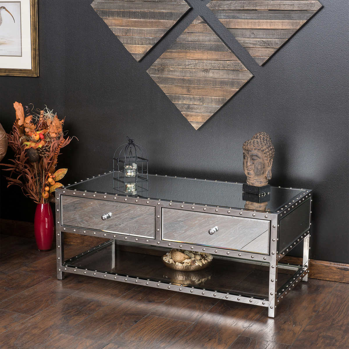 Brielle Mirrored Coffee Table
