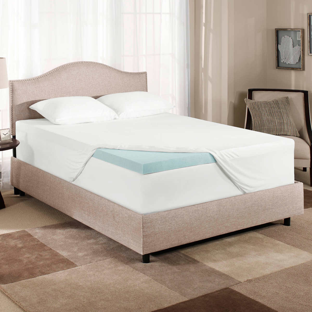 Novaform Comfortluxe Gel Memory Foam Mattress Topper 1
