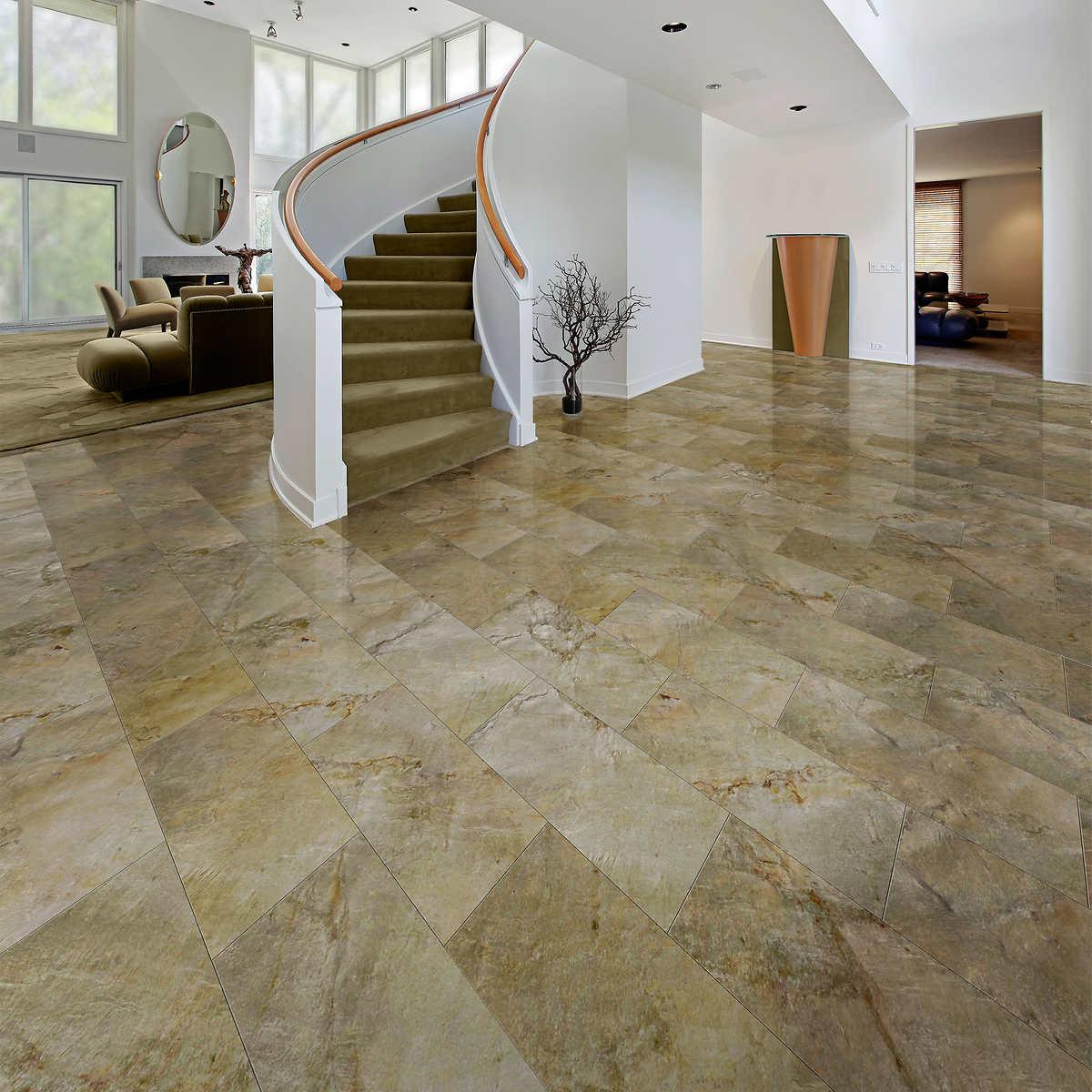 Slate veneer floor tiles 12 in x 24 in box of 14 1 1 doublecrazyfo Image collections