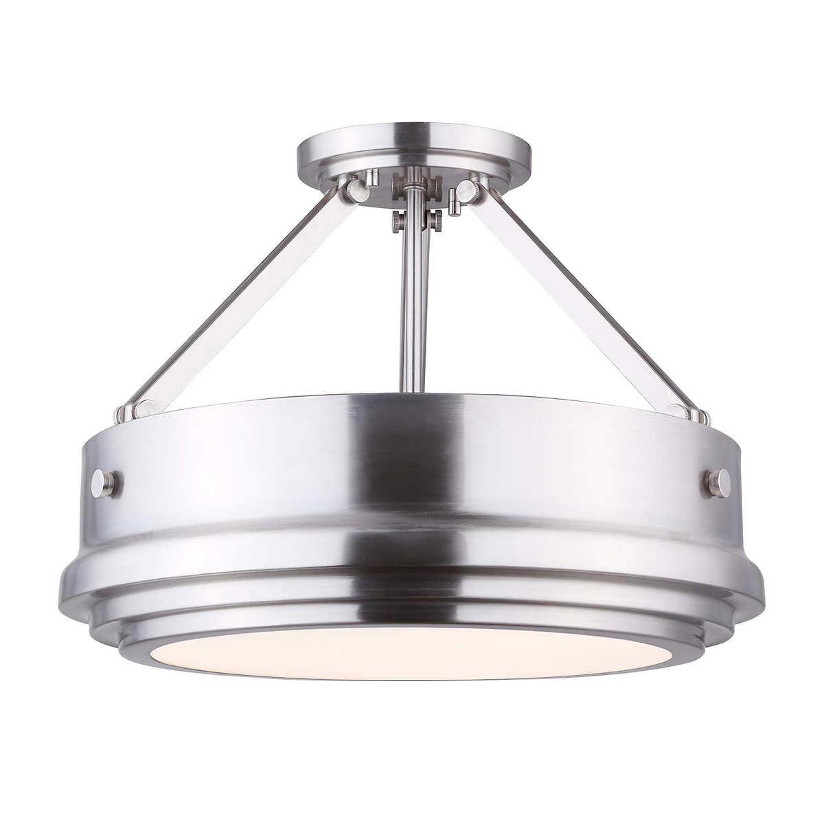 Canarm graidy 3 light semi flush ceiling fixture