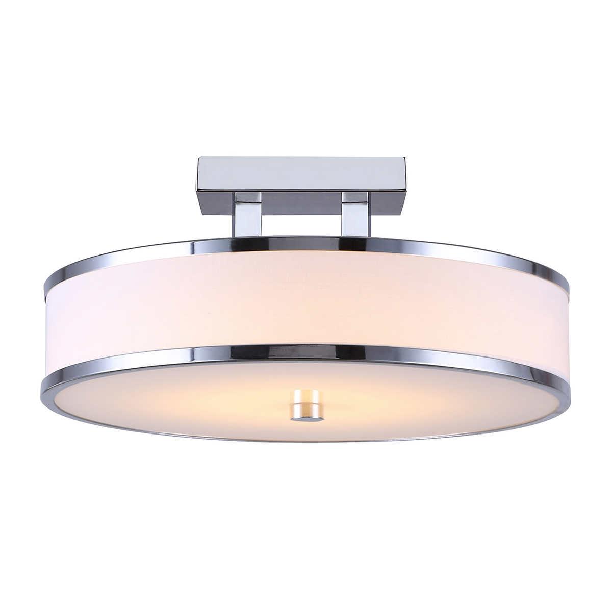 ceiling fixtures  costco - canarm foster led semiflush mount fixture