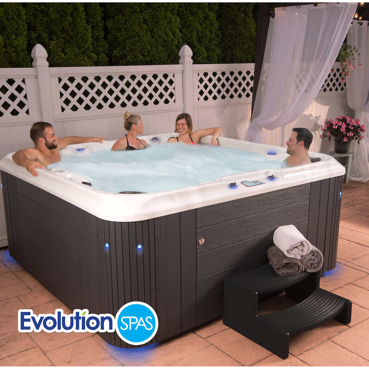 living tubs outdoor confidential with gazebo www costco cool tub jacuzzi depot design gazebos hot home glamorous