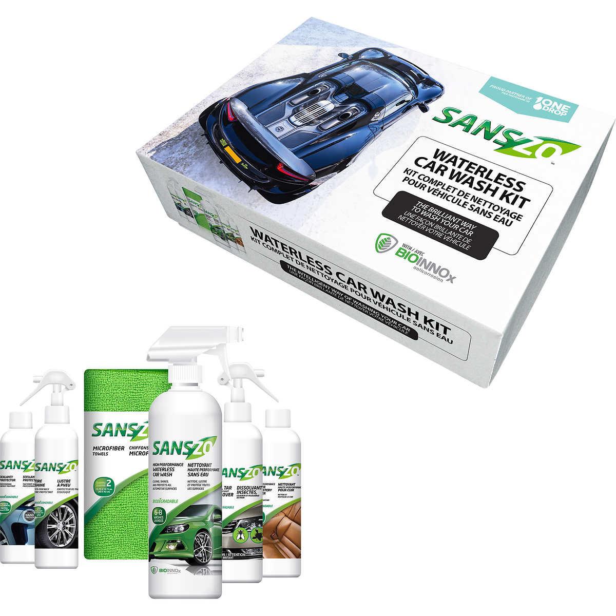 Sanszo high performance waterless car wash kit