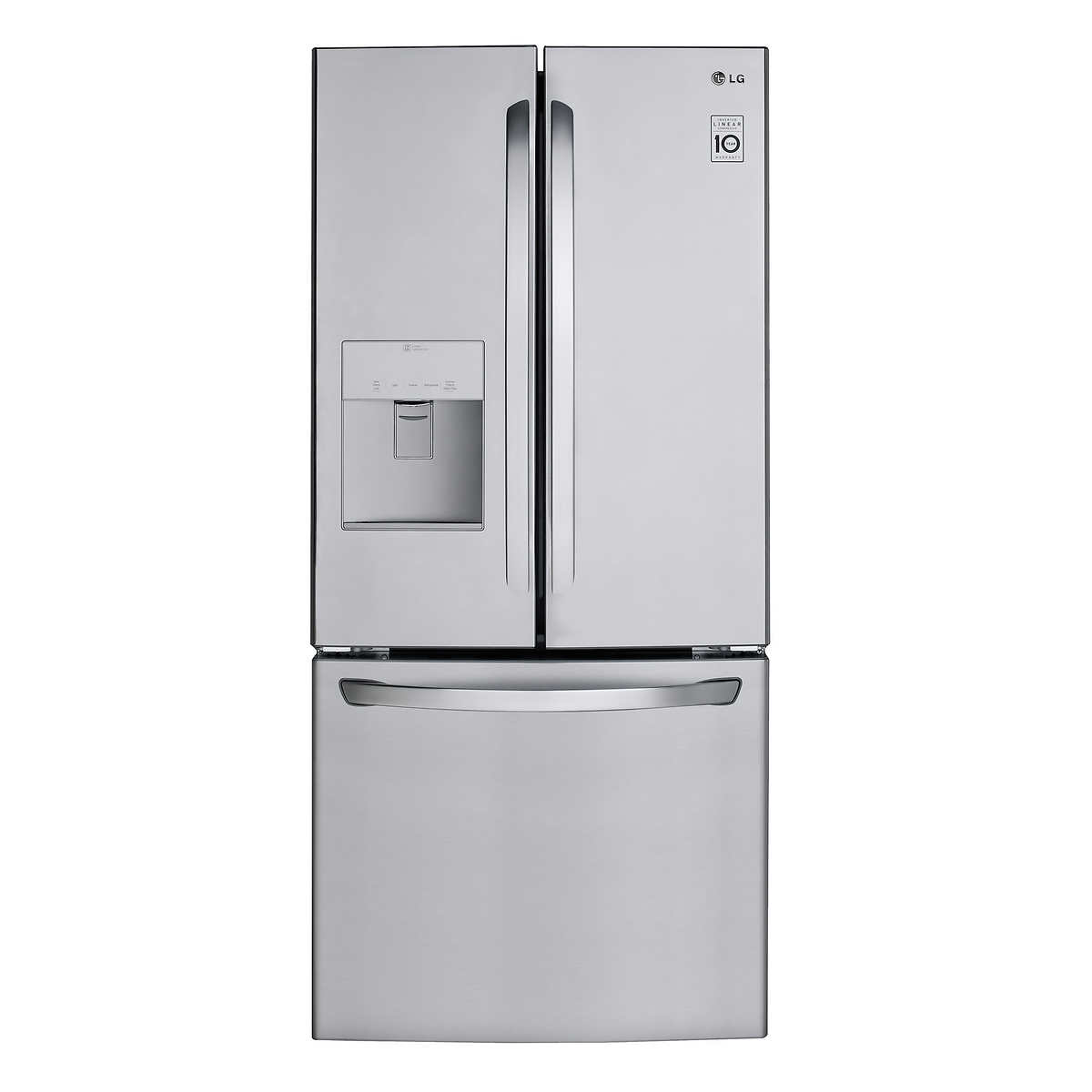 Lg 30 in stainless steel french door 220 cuft refrigerator with 1 1 rubansaba