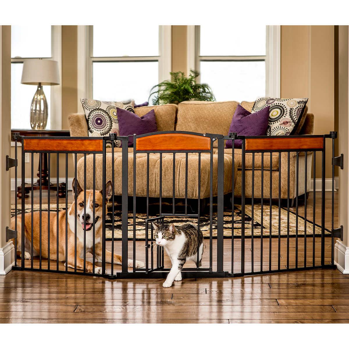 Carlson Design Paw 711 Cm 28 In Large Freestanding Pet Gate