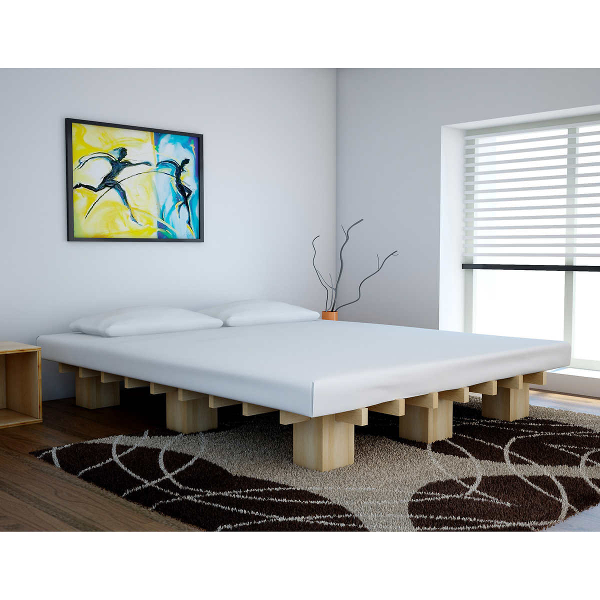 tictactoe double platform beds -  double platform beds item  click to zoom