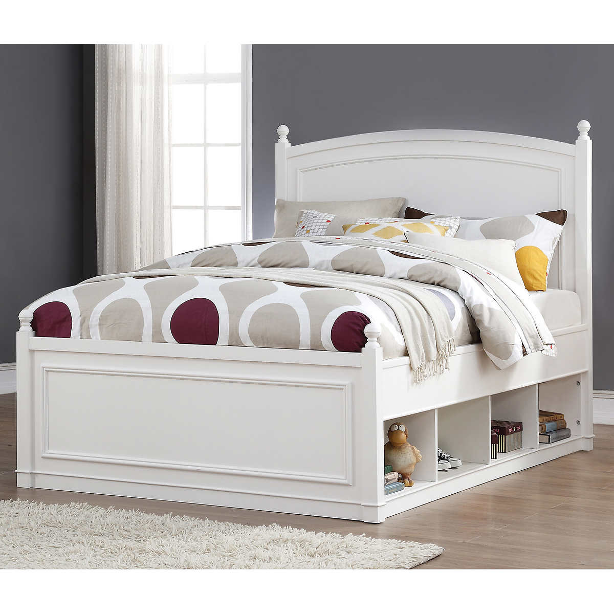 White plastic toddler bed costco - Mila Double Storage Bed