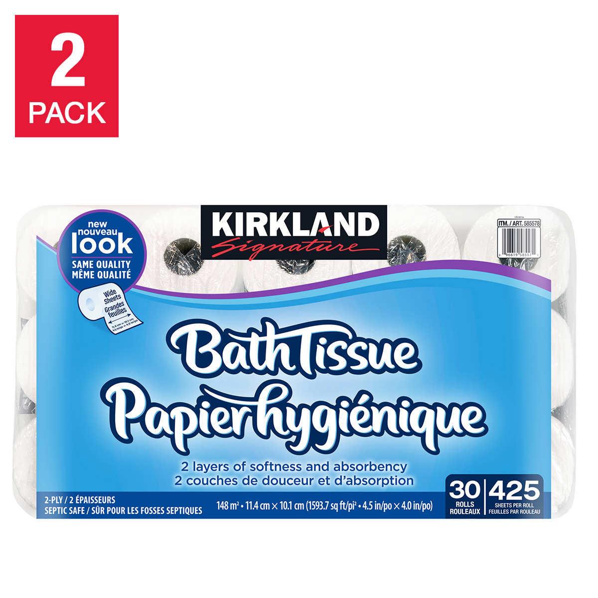 Kirkland Signature 2-ply Bathroom Tissue 30 x 425 Sheets 2-pack