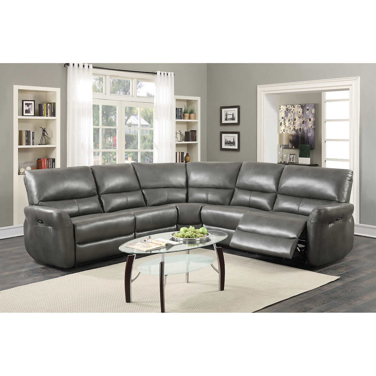 sectionals  chaises  costco - astor power reclining sectional