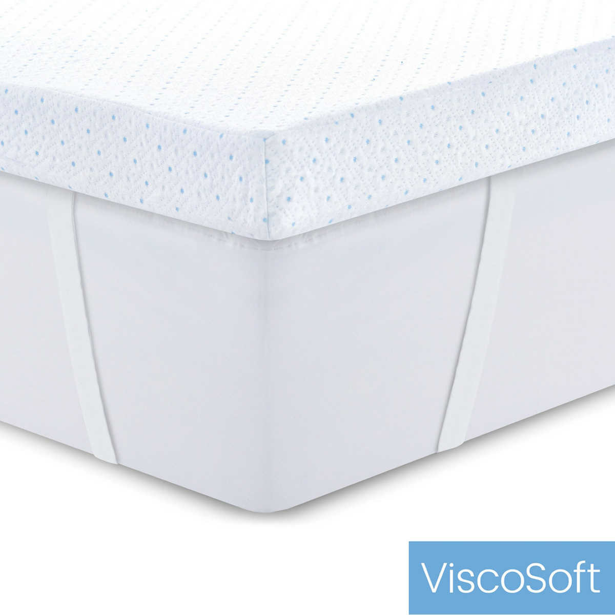 ViscoSoft Gel-Infused Memory Foam Mattress Topper with Slip-Resistant Cover
