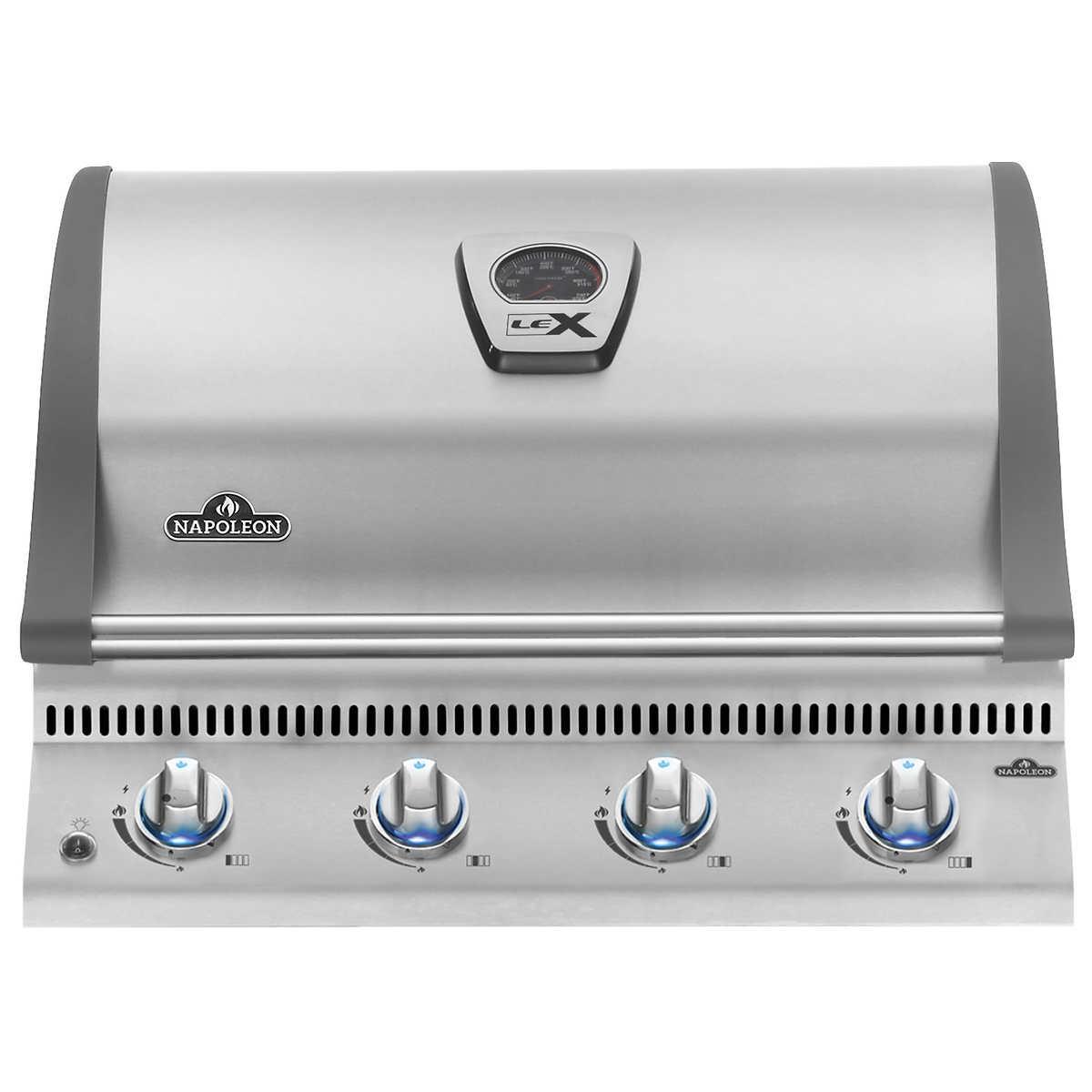 napoleon triumph 495 5-burner 57,200-btu natural gas grill with cover