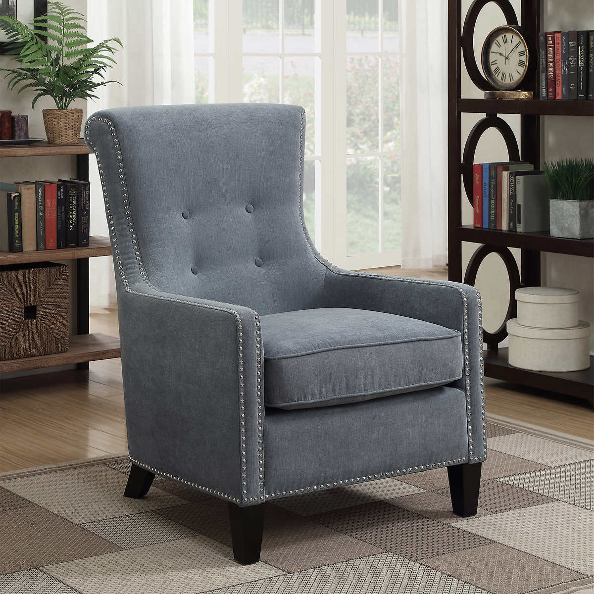 accent chairs  costco - riker blue accent chair