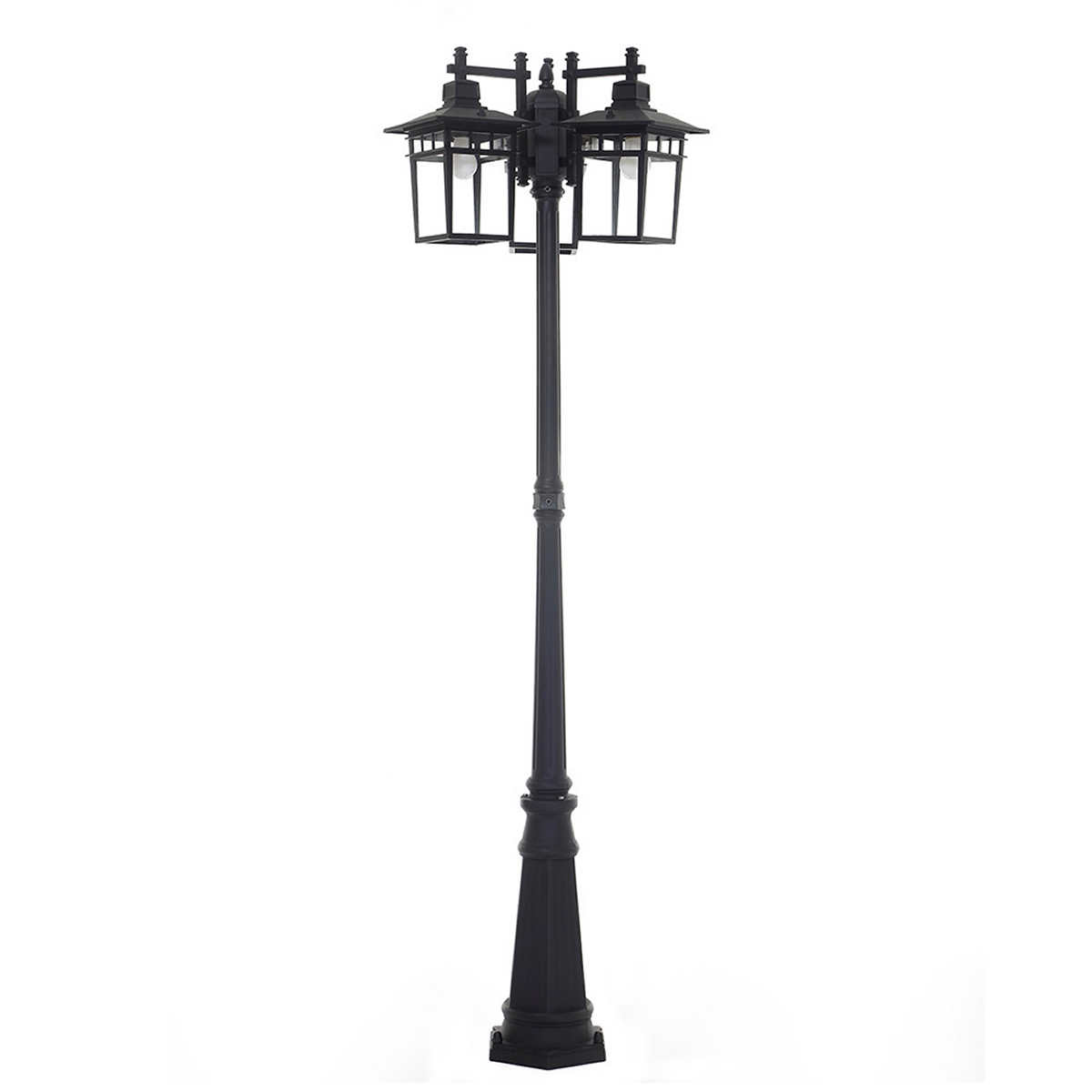 Wood outdoor lamp post - Ove Marco 3 Head Led Lantern Post