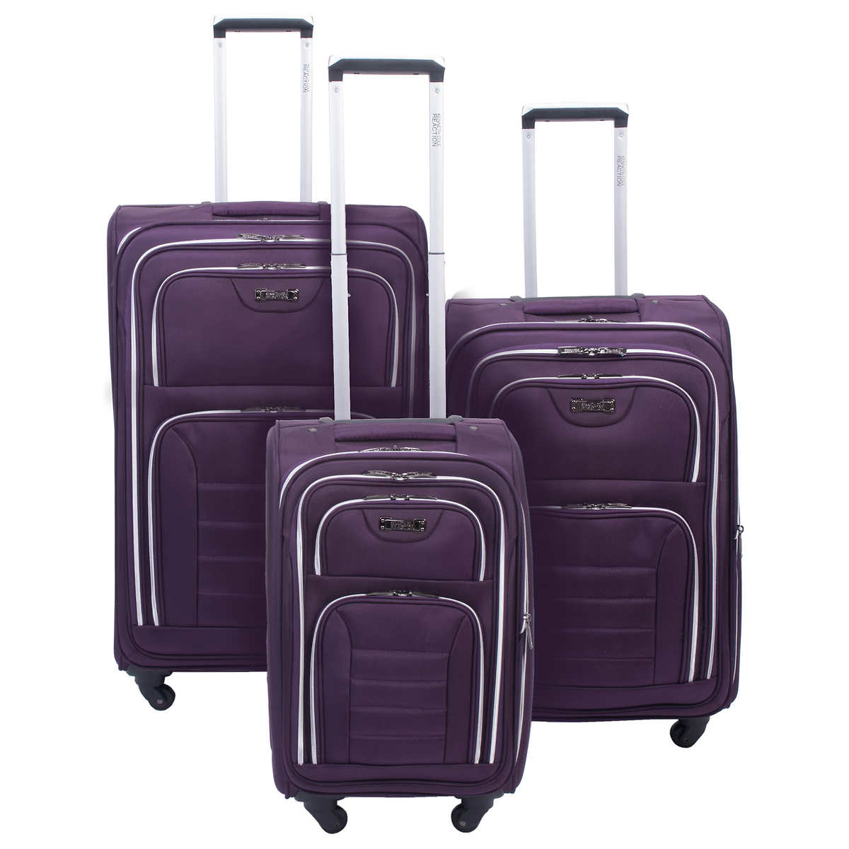 Kenneth cole reaction take five 2 0 3 piece hybrid luggage set