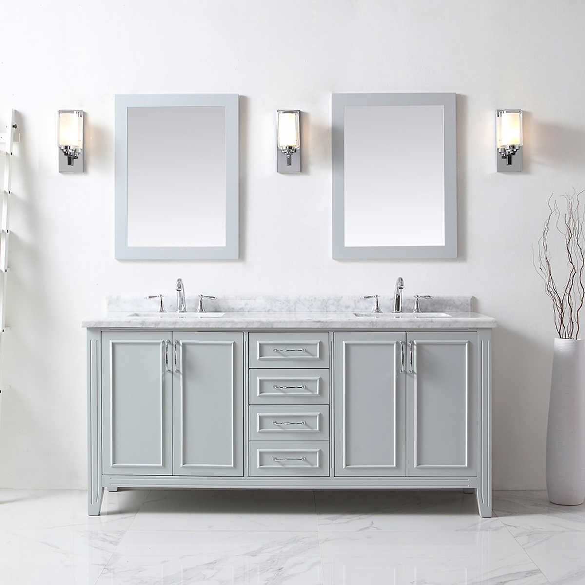 Bathroom cabinets ottawa - Double Vanity With Mirrors