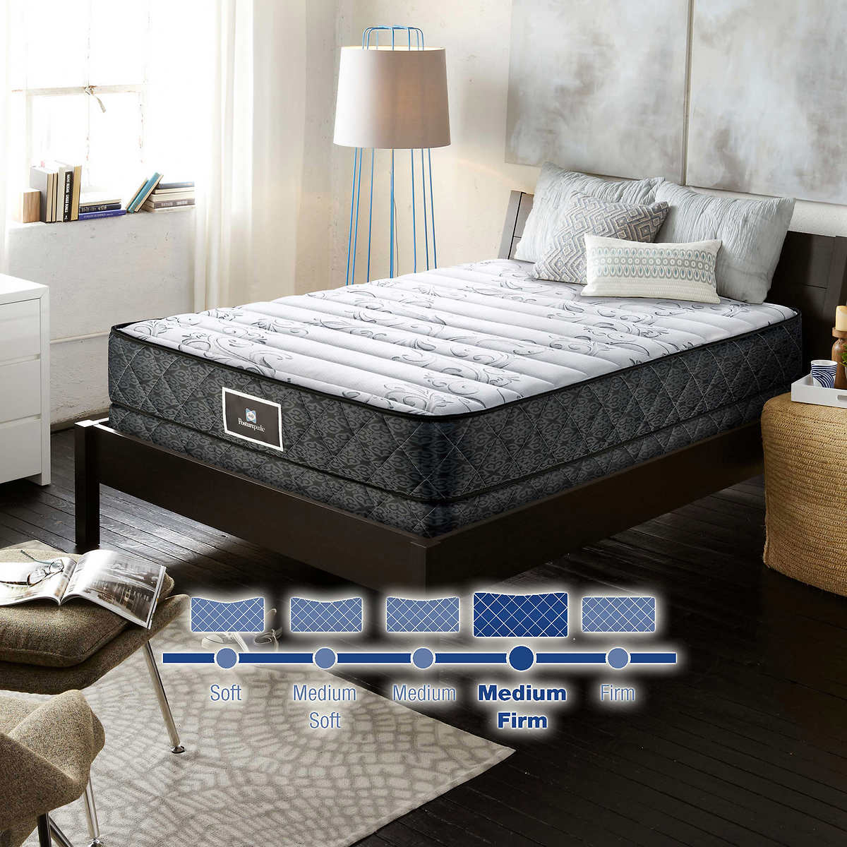 jubilee mattress sealy pewter latex corner anniversary