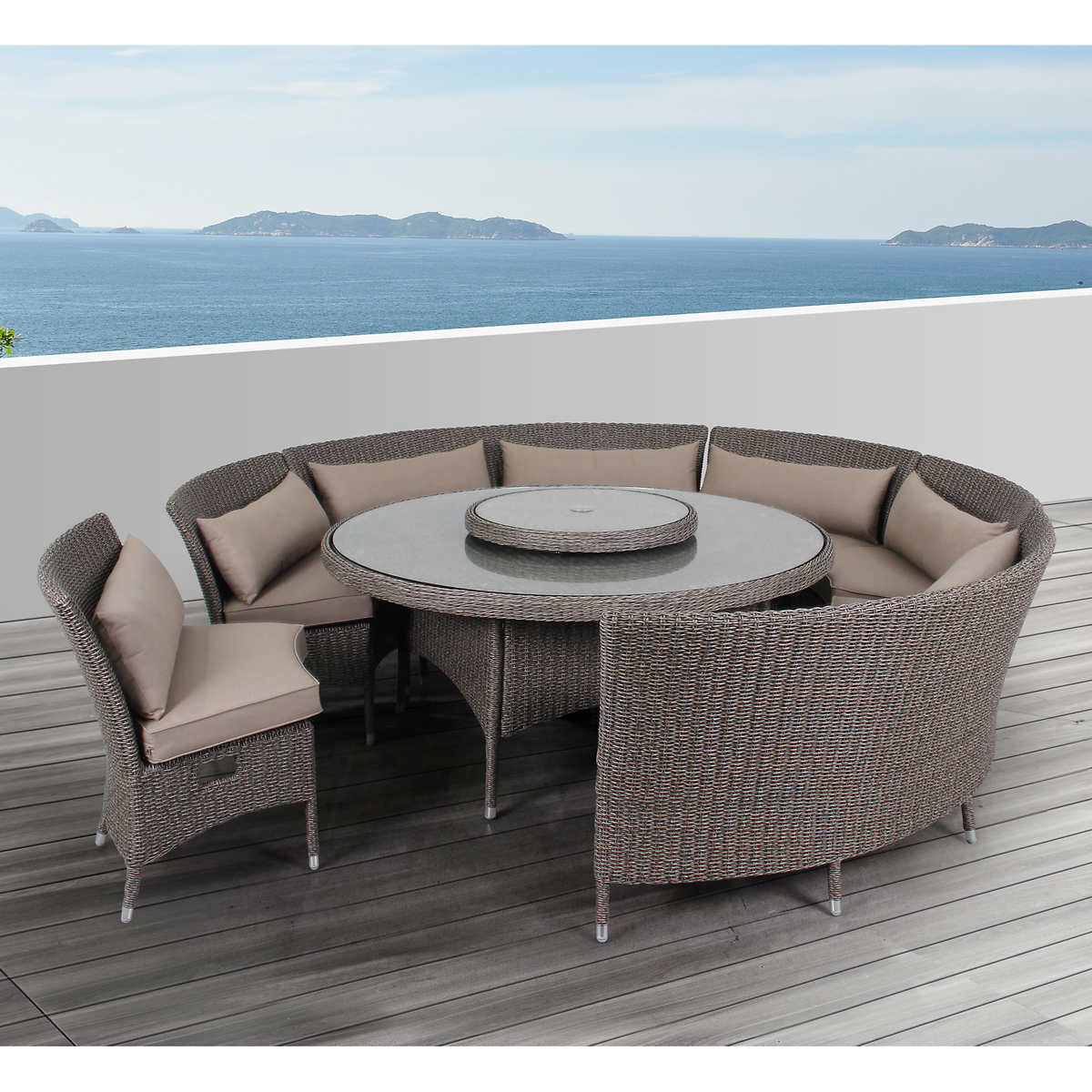 Patio furniture sets costco - Habra I 7 Piece Dining Set
