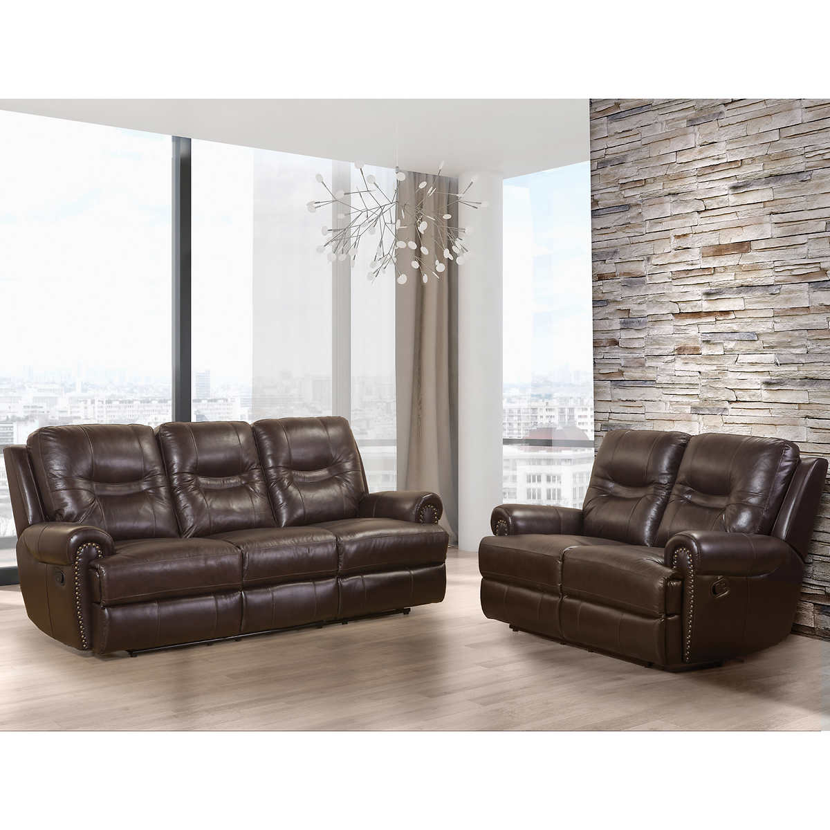 Brown Leather Reclining Sofa Canada Rs Gold Sofa