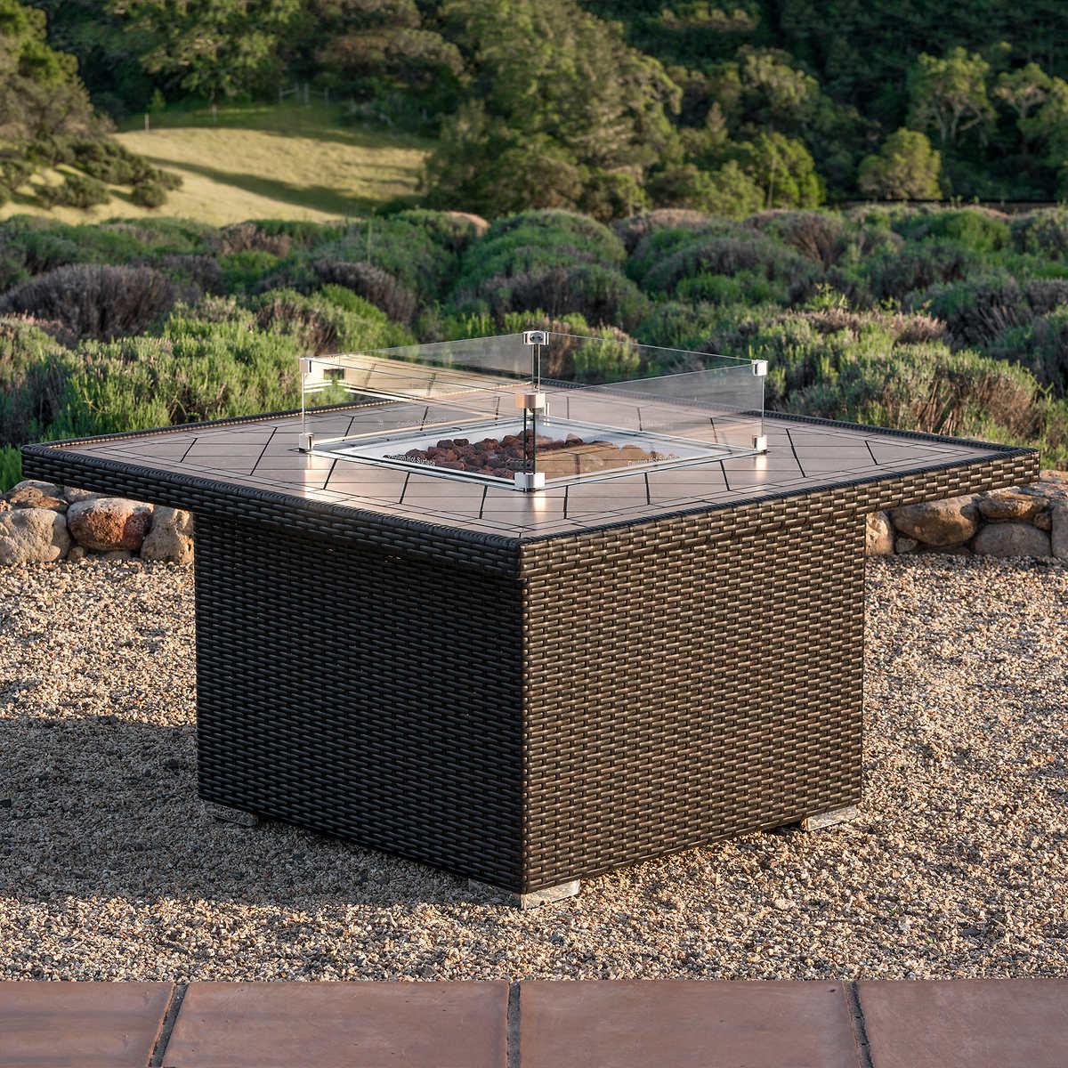 SirioTM Niko Brown Propane Fire Pit Table