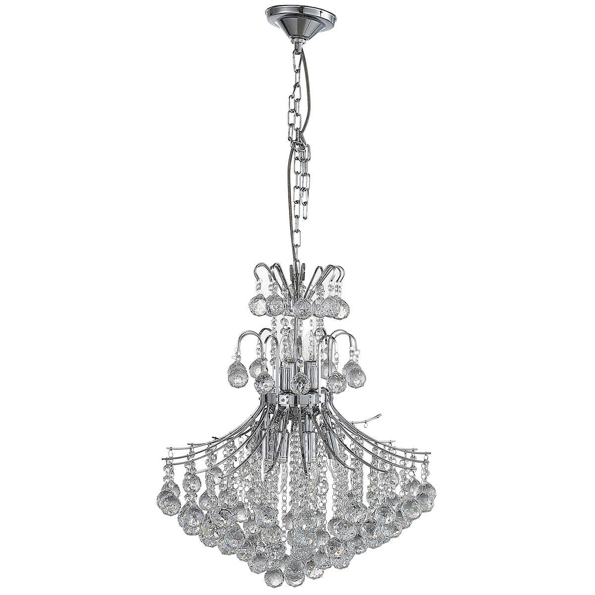 Windsor III Crystal Chandelier In Chrome