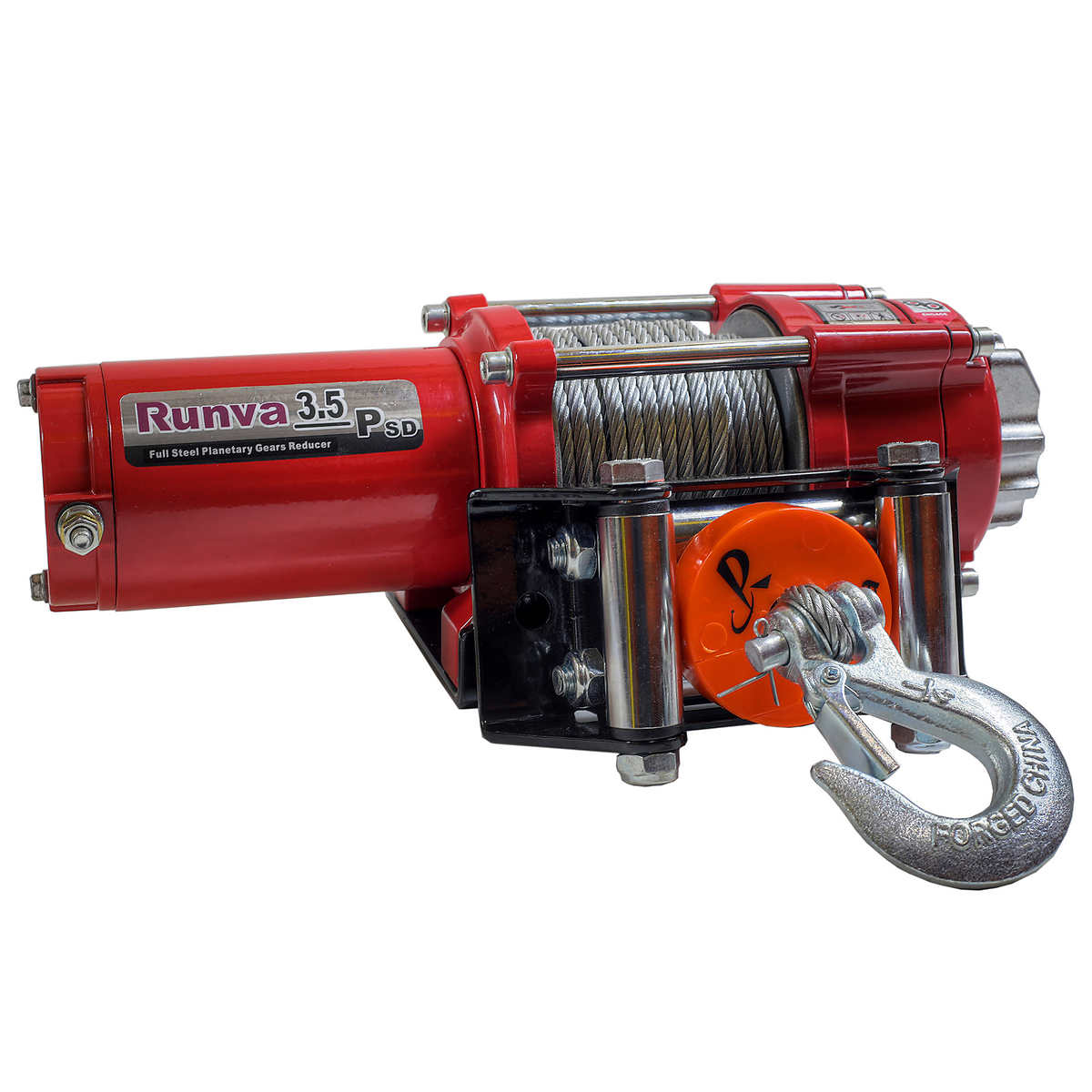 Runva 3 5 P 1,588 kg (3,500 lb ) ATV Electric Winch with Steel Cable
