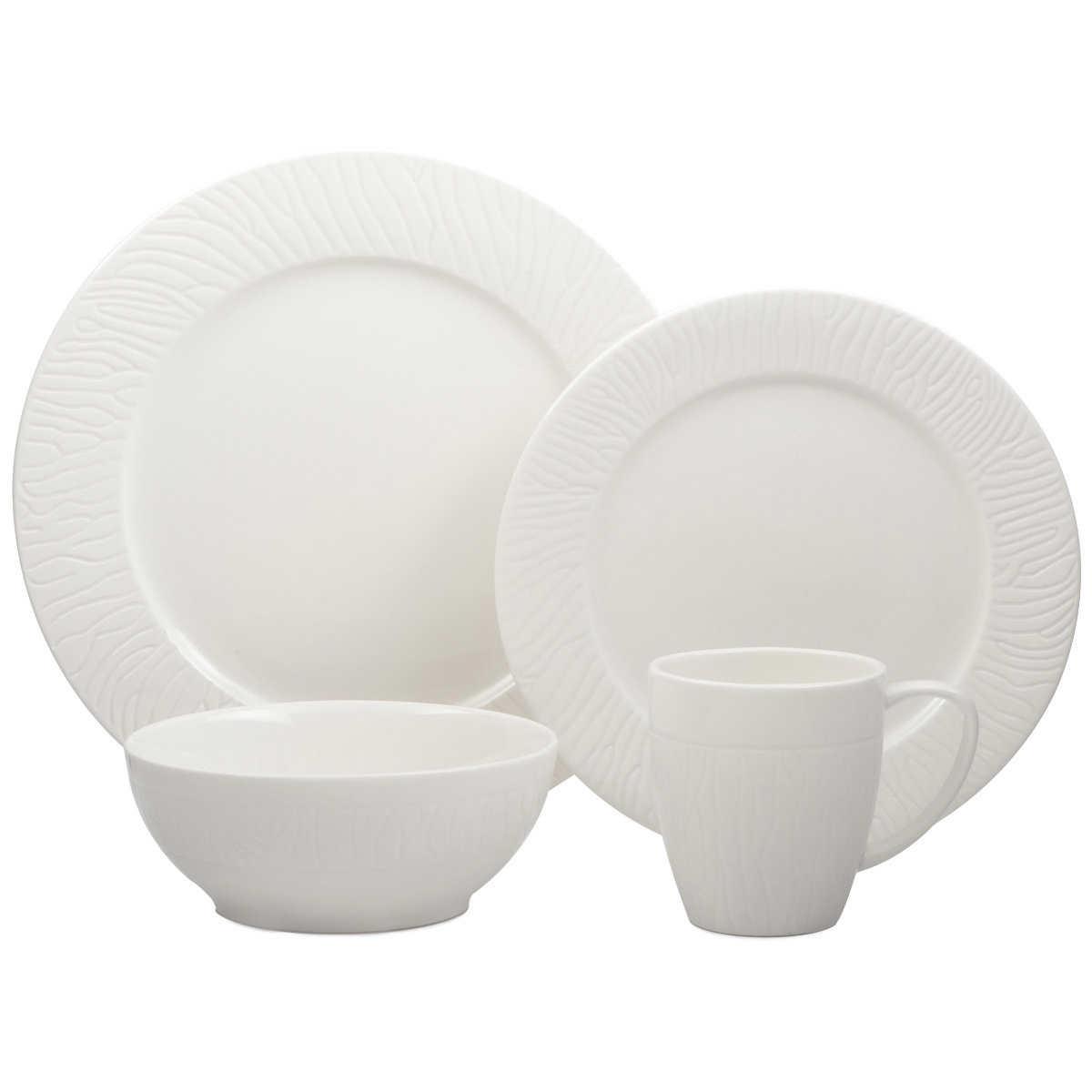 Roscher 32-piece Pure Square Fine Porcelain Dinnerware Set
