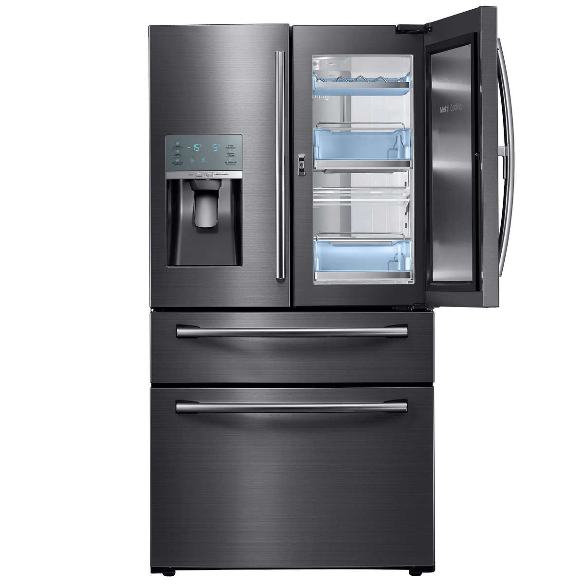 Whirlpool white ice costco canada - Samsung 22 0 Cu Ft Black Stainless Steel 36 In Counter Depth 4 Door