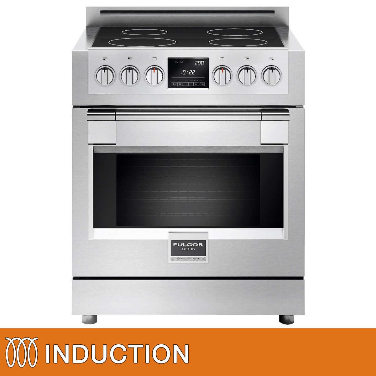 Kitchen small appliances victoria bc - Fulgor Milano Sofia 30 In Induction Range With True Dual Convection