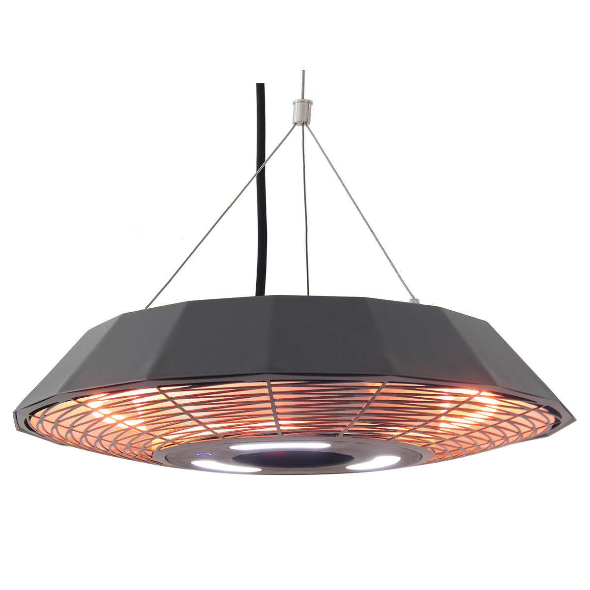 Energ infrared gazebo heater with led light