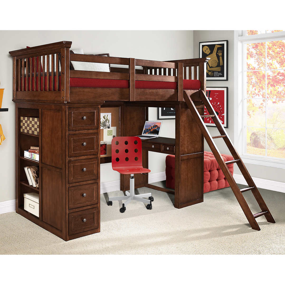 Twin loft bed with desk and storage - Dylan Twin Loft Bed With Storage And Desk Item 1157698 Click To Zoom