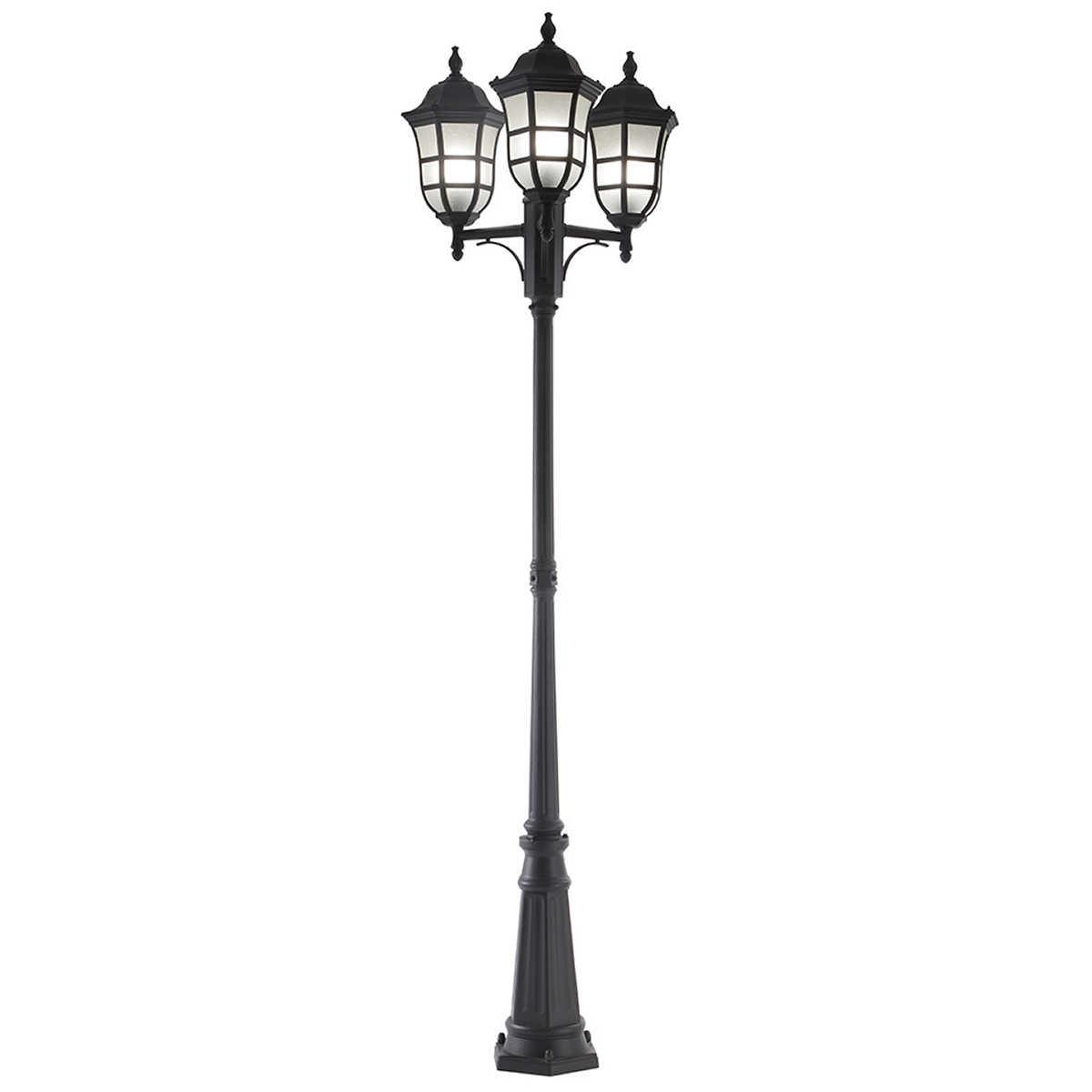 Wood outdoor lamp post - Ove Milton Iii Led Oversize Post Lamp