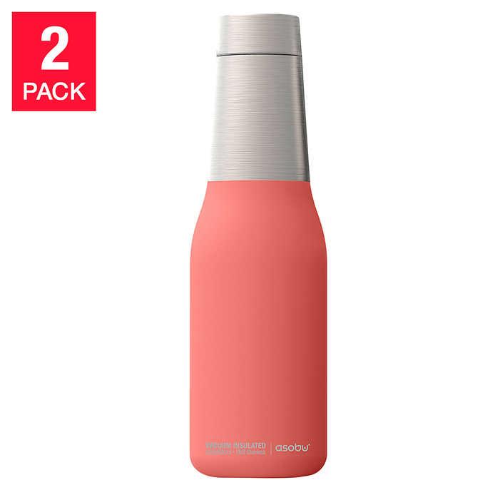 714e945c24 ... Asobu Oasis Stainless-steel Water Bottles, 2-pack. pink 1 pink 1