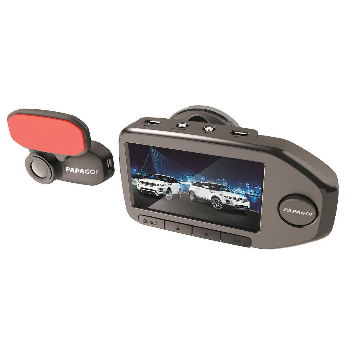 Papago gosafe 760 dual lens dash cam with 32 gb microsd card