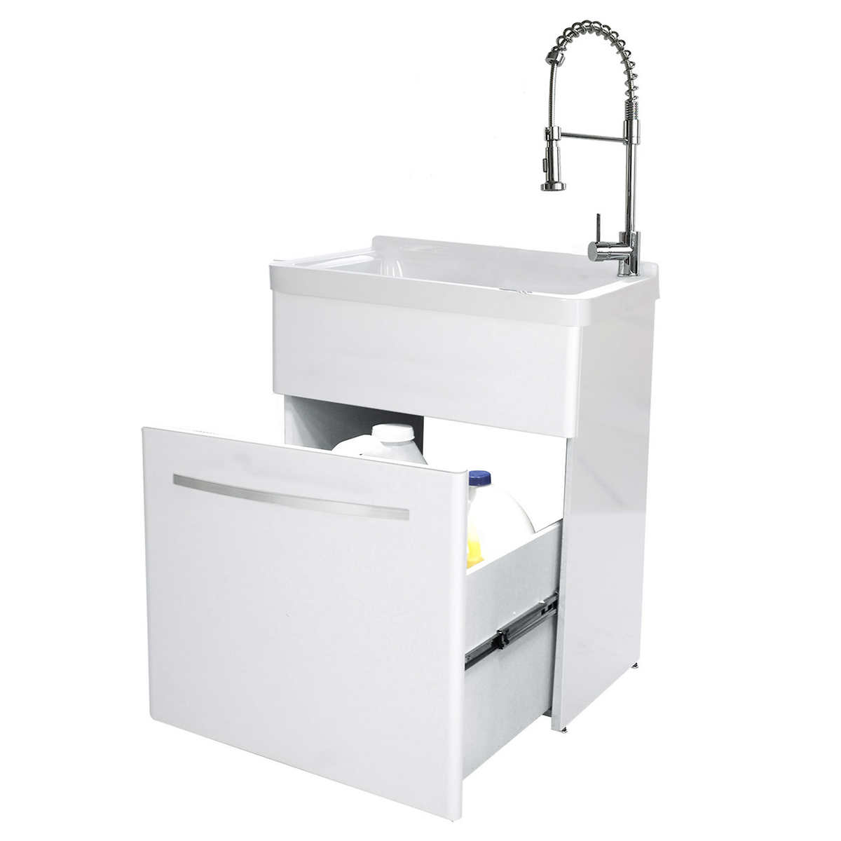 Laundry Tub With Cabinet Costco Cabinets Decorating Ideas