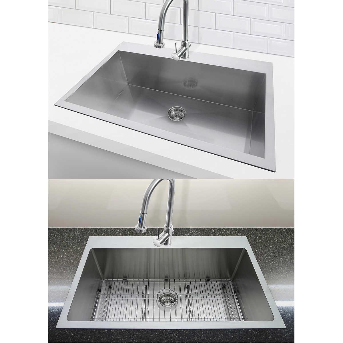 in double sink basin bar white com drop cast x at kitchen kohler shop lowes hartland sinks iron pl