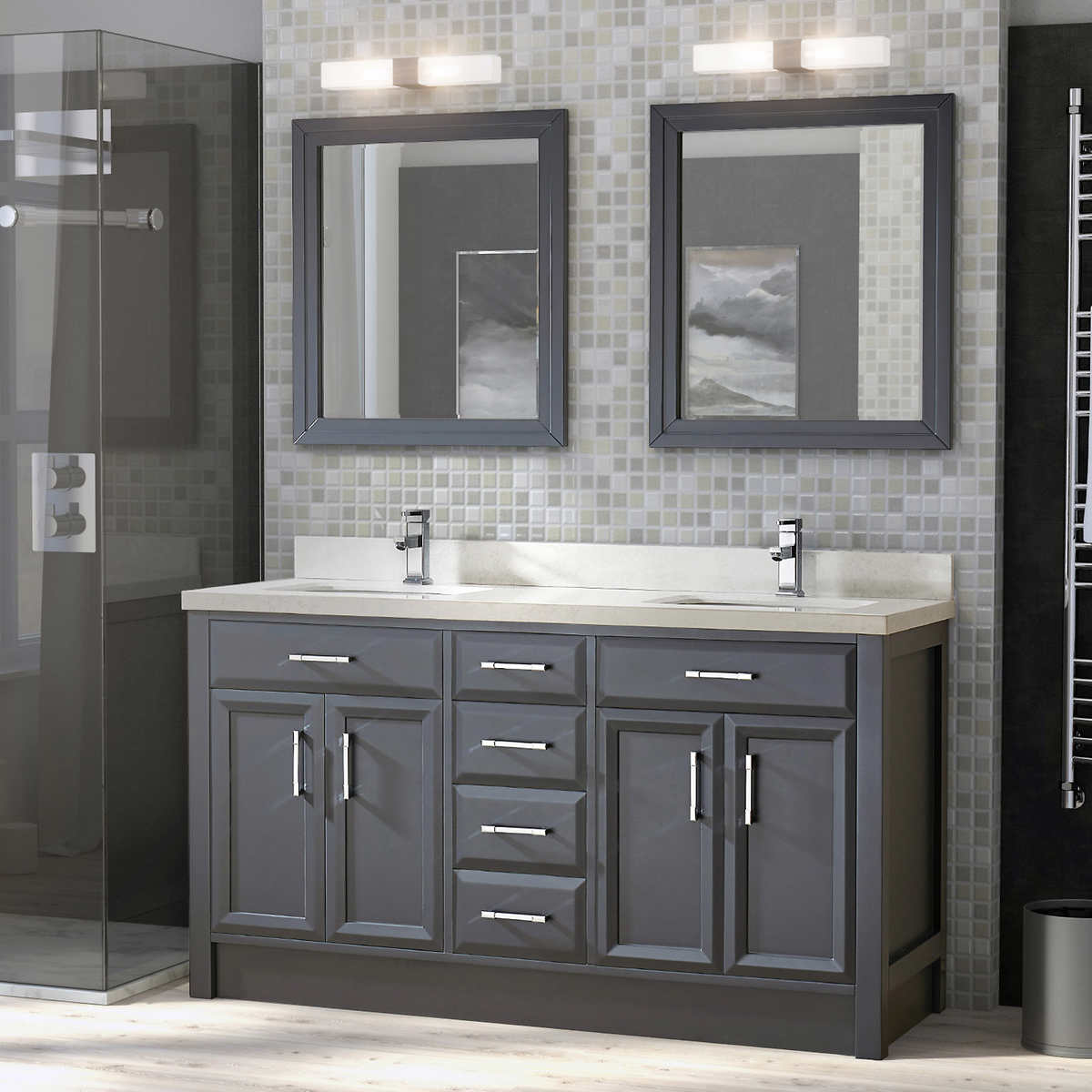 vanities  costco - vanity with mirrors
