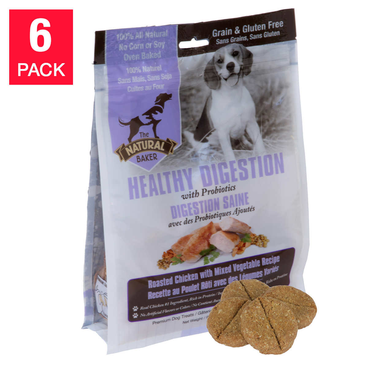 The natural baker healthy digestion dog treats with probiotics 6 pack 1 1 forumfinder Images