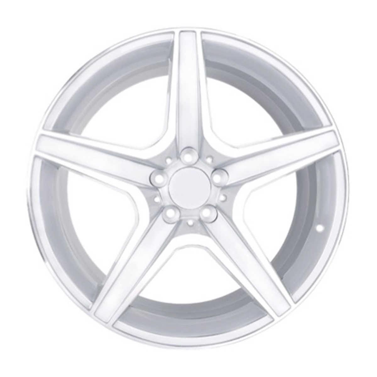 Briway Radial Trailer Tire Mounted On White Spoke Steel Rim