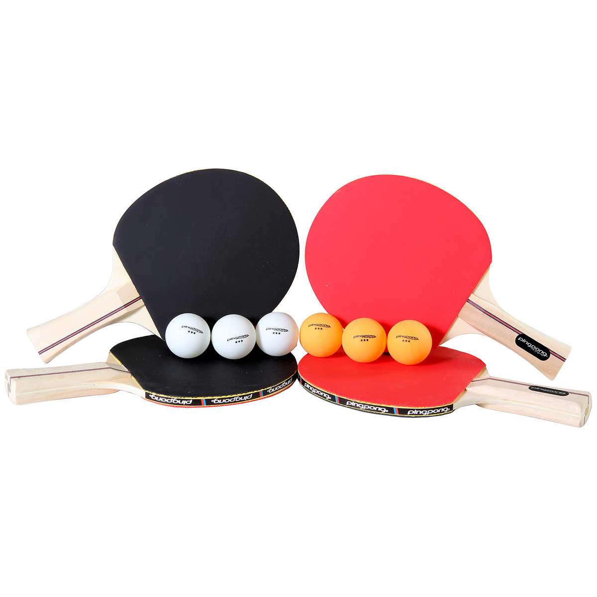 Ping Pong Performance 4-player Paddle and Ball Set