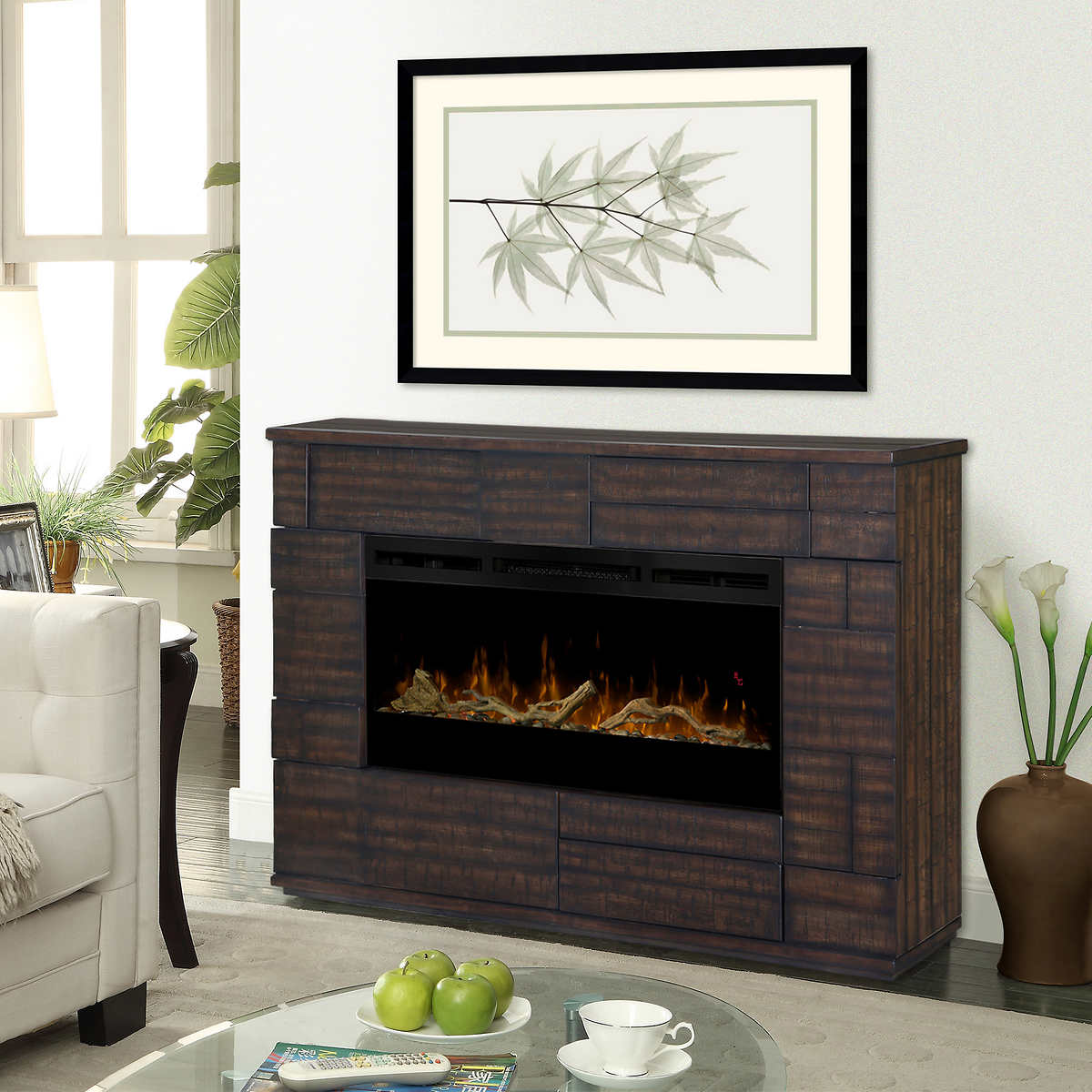 burners by electric watch fireplace with myst dimplex custom opti
