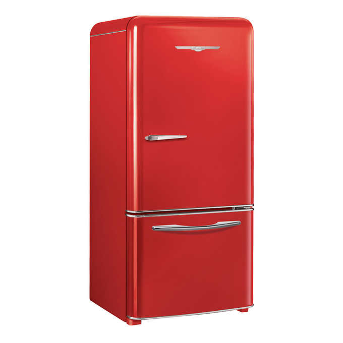 Northstar Retro-inspired 30 in  18 5 cu  ft  Bottom Freezer Refrigerator